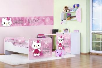 Ružová detská izba pre dievča Miss Kitty