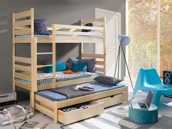 Poschodová posteľ s prístelkou Sebastien