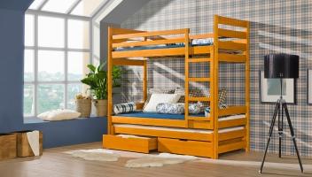 Poschodová posteľ Daria s prístelkou