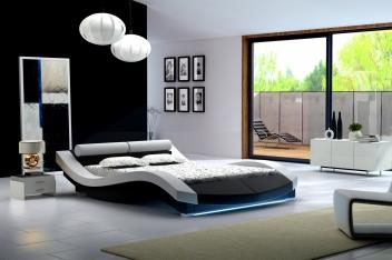 Moderná dvojlôžková posteľ Alvina