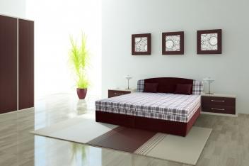 Čalúnená posteľ Lina s polohovacími roštmi