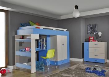 Detská izba s vyvýšenou posteľou Adela 4