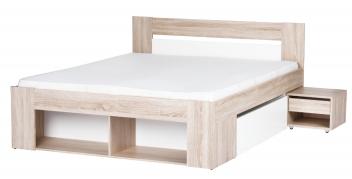 Manželská posteľ s úložným priestorom a nočnými stolíkmi Rebeka