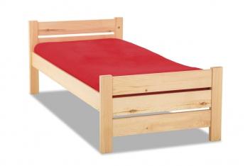 Jednoduchá posteľ z masívu Olivia