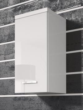 Závesná skrinka Horace - biela / biely lesk