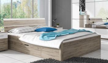 Manželská posteľ Dione 1 - dub san remo