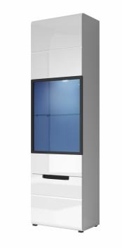Moderná vitrína Marien biely lesk