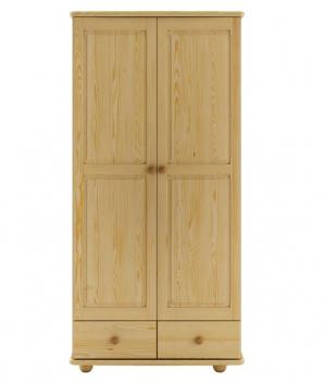 Drevená šatníková skriňa Tira