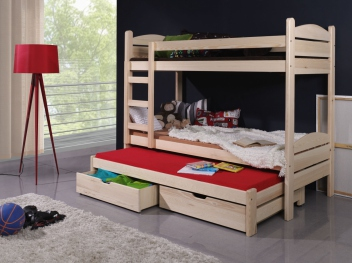 Detská poschodová posteľ Albert z masívu