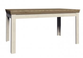Rustikálny jedálenský stôl Meryl - borovica nordic / dub divoký