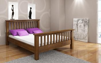 Drevená posteľ Lone v niekoľkých farbách a rozmeroch