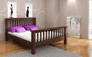 Luxusná posteľ Inger z masívu borovice