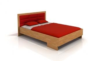 Buková manželská posteľ Inga 3 s čalúneným čelom