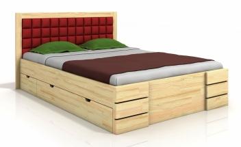 Drevená manželská posteľ Erland 6 so štyrmi zásuvkami