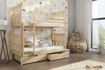 Detská poschodová posteľ Katy z masívu