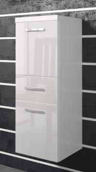 Kúpeľňová skrinka Horace 2 - biela / biely lesk