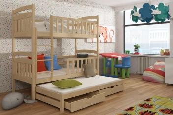 Poschodová posteľ s prístelkou Aramis