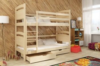 Poschodová posteľ z masívu Adriana