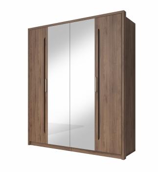 Zrkadlová šatníková skriňa Teriel 2