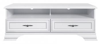 Televízny stolík Lettore - biely