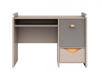 Písací stôl Orango - dub svetlý belluno / sivá