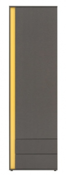 Policová šatníková skriňa Fresco 2 - pravá