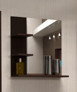 Kúpeľňové zrkadlo s poličkami Konkord