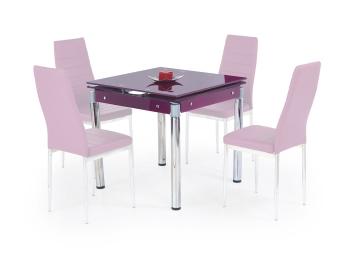 Sklenený stôl Nestor 2 - fialový