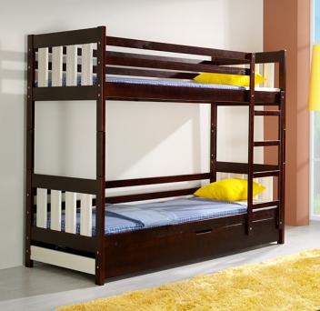 Poschodová posteľ z masívu Grizelda