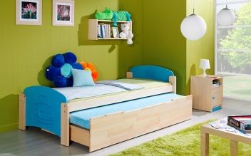 Detská posteľ s úložným priestorom a prístelkou Bing 2