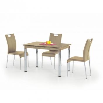 Sklenený stôl Saverio 1 - béžový