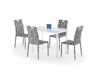 Sklenený stôl Oresto 2 - mliečna / biela