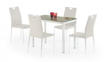 Sklenený stôl Oresto 3 - béžovo-biela