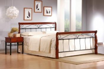 Kovová manželská posteľ Tasia 2