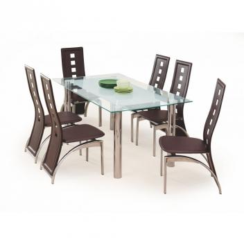 Sklenený jedálenský stôl Belial