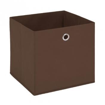 Látkový úložný box Heli 4 - hnedý