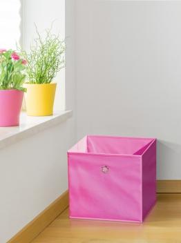 Látkový úložný box Heli 6 - ružový