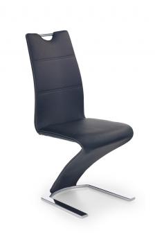 Čalúnená jedálenská stolička Mikaila 2 - čierna