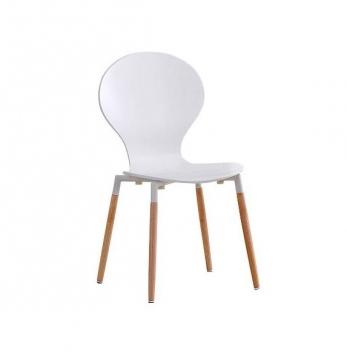 Jedálenská stolička Kitim - biela