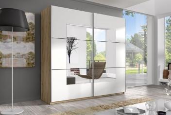 Zrkadlová šatníková skriňa s posuvnými dverami Alteris