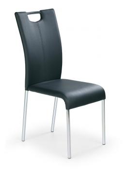Čalúnená jedálenská stolička Hena - čierna