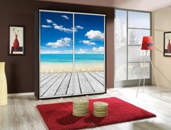 Šatníková skriňa s obrázkom pláže Penelopa 8