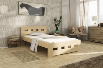 Jednolôžková posteľ Tailery - masív