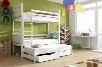 Detská poschodová posteľ s prístelkou Florisa