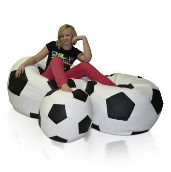 Zostava sedacích lôpt Futbal (L + XXL + XXXL)