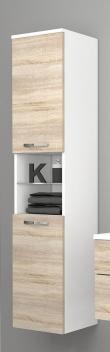 Vysoká závesná kúpeľňová skrinka Lorieta bs 1