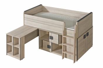 Jednolôžková posteľ s výsuvným pultom Allarica 19
