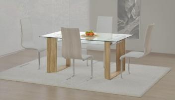 Sklenený jedálenský stôl Caylem