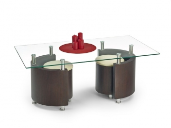 Konferenčný stolík s taburetmi Simao 2