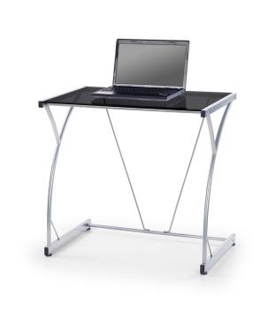 PC stolík Adir - čierne sklo